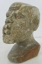 "Agate Male Head Carved Sculpture 6"" Tall"