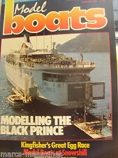 MODEL BOATS FEB 1989 BLACK PRINCE CELIA MAY PLAN SNOWSHILL RAF SEAPLANE TENDER