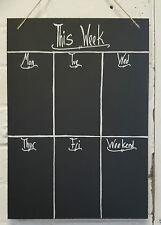 Planificador semanal Shabby Chic A4 diseño recargado pizarra Memo Tabla, Pizarra