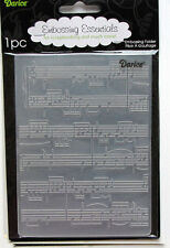 Darice Embossing Folder ~ Sheet Music ~  Background Cardmaking A2 1216-68