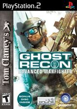 Tom Clancy's Ghost Recon Advanced Warfighter- Limited Edition- PS2 Game Complete