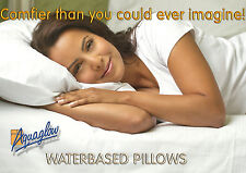 Water pillows, 2 x AQUAGLOW Luxury, Orthopaedic Therapeutic Waterpillows.