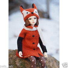 Fox costume Knitted for Minifee MSD, outfit for Doll BJD 1/4, Unoa, Kaye Wiggs,
