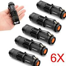 6X 1200Lm Mini CREE Q5 7W LED Flashlight Torch Lamp Adjustable Focus Zoom Light