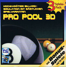 Pool pro 3d/rings of Medusa oro/Meridian 59 (CD-ROM) 3 juegos PC Windows