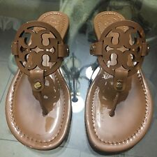 Brand New Tory Burch Miller Sandal Size 8 Sand Patent