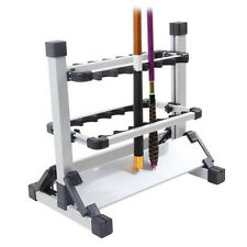 Portable White Fishing 12 Rod Rack Pole Holder Aluminum Alloy Stand Storage Tool