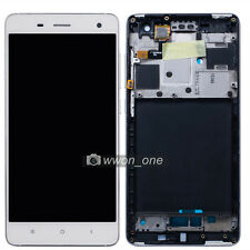 White Xiaomi Mi4 M4 Mi-4 LCD Display Touch Screen Digitizer Glass Assembly+Frame