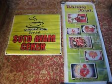 2 x BALI Restaurant Advertising Murals - Linen/Canvas (Large) Authentic