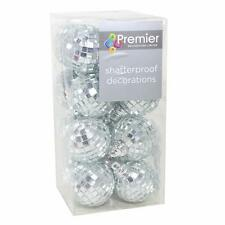 Christmas Tree Decoration Mirror Ball Baubles - 16 Pack 40mm