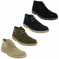 Roamers Desert Suede 2 Eye Real Leather Mens Boys M400 Round Toe Boots UK3-12