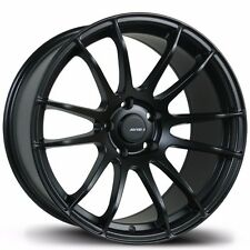 Avid1 AV20 18x9.5 +38 5x114.3 Matte Black Concave STI Civic RSX Mazda3 TSX IS300