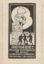 Z2383 Pellicole fotografiche GEVAERT - Pubblicità 1928 - Vintage advertising