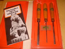 Henry Taylor Set No. PW2 Woodcarving Tools & Slipstone - As Photo