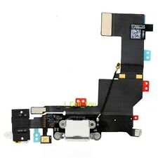 White Headphone Audio Charger Charging Data USB Dock Port Flex Cable iPhone 5S