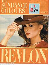 PUBLICITE ADVERTISING 055  1981  REVLON THE SUNDANCE COLORS verni & rouge lévres