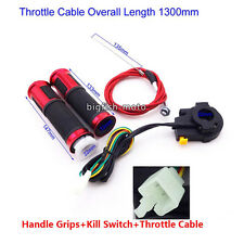 Gas Motorized Bicycle Red Handle Grip Kill Switch Throttle Cable Push Bike