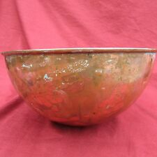 """vintage copper  mixing bowl, made in france, 9"""" wide on the top, home decor"""