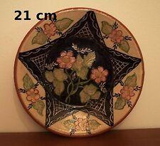 assiette en terre cuite vernissé, diamètre 21 cm,    ***T5