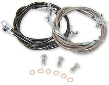 "Streamline Front Brake Lines +2"" Smoked Yamaha Banshee 350 All Years 03 04 05 06"