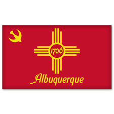 "Albuquerque City Flag car bumper sticker window decal 6"" x 3"""