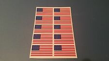Lot of 10 American Flag football helmet decals