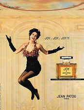 PUBLICITE ADVERTISING 015  1992  JEAN PATOU  parfum femme JOY