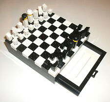 LEGO MOC TRAVEL Chess Set 1x8 Sliding Door Rail 2x16 6x16 Plate 1x4 Groove Brick