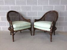 MEYER GUNTHER MARTINI QUALITY PAIR OF FAUX BAMBOO/CAIN ACCENT CHAIRS  A.S. GALDI