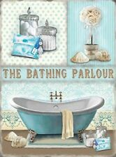THE BATHING PARLOUR BATHROOM RELAX METAL PLAQUE TIN SIGN OTHERS ARE LISTED 106