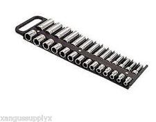 "Lisle Tool Box Organizer Magnetic Socket Holder 3/8"" Drive Black"