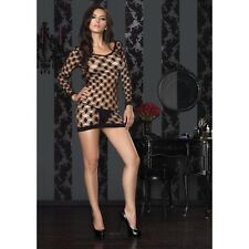 LA-86327 Sexy Black Harcore Net Mini Dress Stripper Gogo Dancer Raver Wear