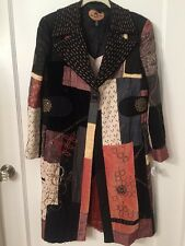Etro Size 48 Medium Multi-colored Beaded Embellished Patchwork Coat Jacket NWT