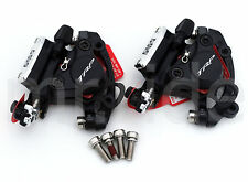 TRP HY/RD Cable-Actuated Hydraulic Disc Brake set Front + Rear Black w/ Adapter