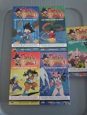 Dragon Ball 1 2 3 4 5 VHS Video Tapes Secrets Emperor's Quest Roshi Yamcha Goku