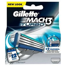Gillette Mach 3 Turbo Cartuchos - 4 Cartuchos