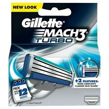 GILLETTE MACH 3 TURBO CARTRIDGES - 4 CARTRIDGES