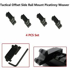 4 Tactical Offset Side Rail Mount Picatinny Weaver Angle Scope Sight 45 degree