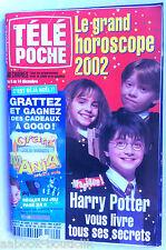 b)Télé poche 3/12/2001; Harry Potter/ Interview Lara Fabian/ Vincent Perez