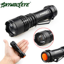 Super Bright 8000LM 3 Modes Zoomable XML Q5 LED Flashlight 14500/AA Torch Lamp
