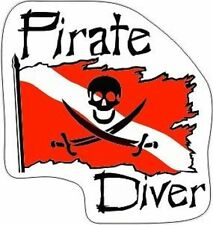 New Pirate Dive Flag Decal! COOL for Scuba Divers Tank 200-55
