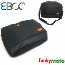 """LEATHER TRIM 15.6"""" LAPTOP CARRY BAG WATERPROOF TOUGH HANDLE TRAVEL LUGGAGE FL2"""