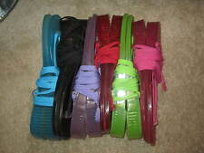 Newport News Tie Up Rubber Jelly Flip Flops 6 different colors in 1 pack size 8