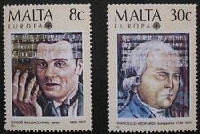 Europa, European music year stamps, 1985, Malta, SG ref: 759 & 760, 2 stamps MNH