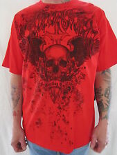 SILVER STAR Mens Skull Red T Shirt Size XLARGE NWT