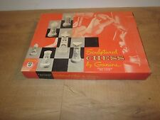 "VINTAGE 1961 SCULPTED GANINE GOTHIC ~""STAR TREK""~CHESS SET~WOW~SPOCK~VERY NICE!"
