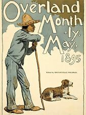 ART PRINT POSTER ADVERT MAGAZINE COVER OVERLAND MONTHLY HIKER DOG NOFL1652