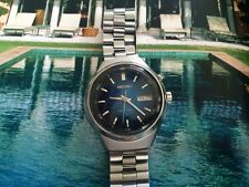 RARE  SEIKO 1976  17J W/ BLUE DIAL 4006-6080 BELL MATIC ALARM WATCH,EXL. CONDIT.