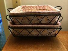 Temp-tations by Tara OLD WORLD Lilac square baker casserole 1.5 qt 2 qt w/racks