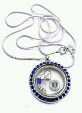 United States air force mom son living memory locket necklace US fast shipping